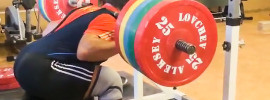 Aleksey Lovchev 210kg Seated Good Mornings