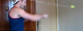 Hat + Ball + Elastic Cord = DIY Reaction Trainer