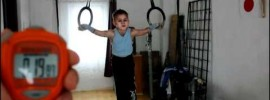 20 Second Iron Cross by a 7 Year Old Kid