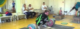Dmitry Klokov 202kg Snatch from board