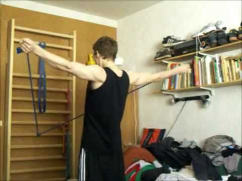 My Rubber Band Shoulder Warm Up Routine Video All Things Gym