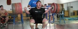 Chinese National Champion Squating 280kg/ 616lbs