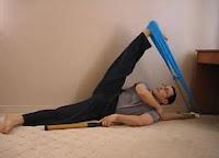 DIY homemade stretching tool splits