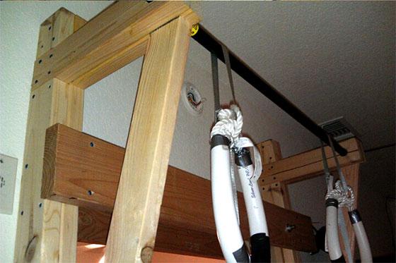 diy door frame pull up bar construction detail