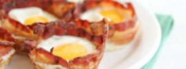 Eggs in a Bacon Cup Breakfast