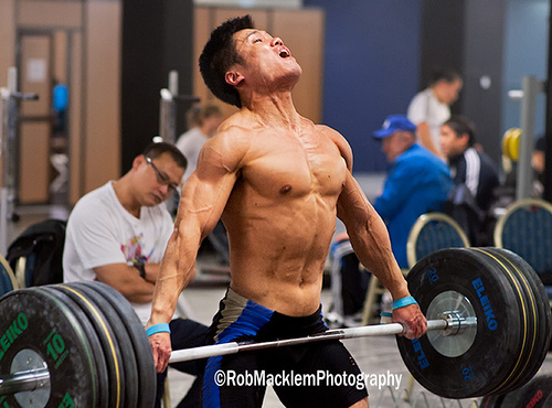 Lu Xiaojun Ripped Training Hall Snatch High Pull