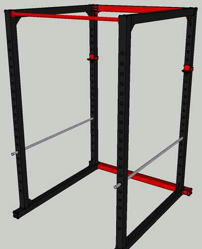homemade steel power rack all things gym