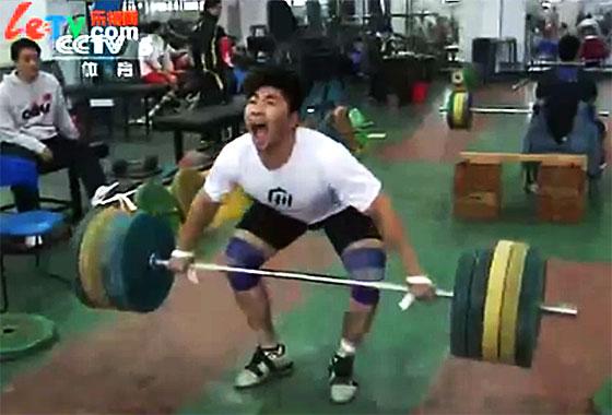 Zhang Jie snatch high pull