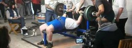 Mick King 235 kg Bench Press at 62 Years