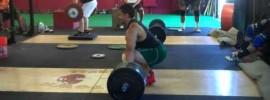 Ben Claridad 150kg Hang Snatch