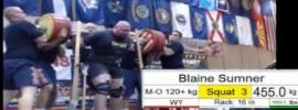 Blaine Sumner 455 kg Squat