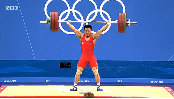 Un Guk Kim 153kg Snatch Olympic Record