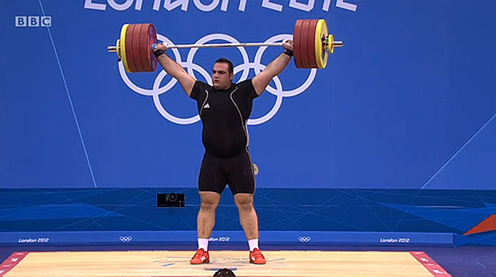 Behdad Salimi 208kg Snatch London 2012 Olympics