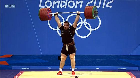 Behdad Salimi 247kg Clean Jerk London 2012 Olympics