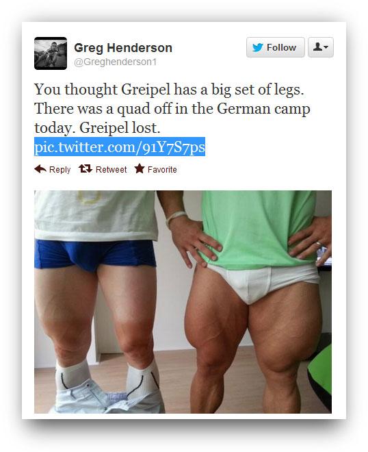 Robert Förstemann Huge Quads
