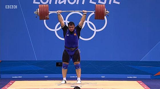 Ruslan ALbegov 240kg Clean Jerk London Olympics