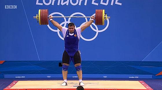 Ruslan Albegov 208kg Snatch London 2012 Olympics