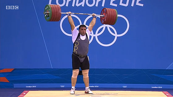 Sajjad Anoushiravani Hamlabad 245kg Clean Jerk London 2012 Olympics