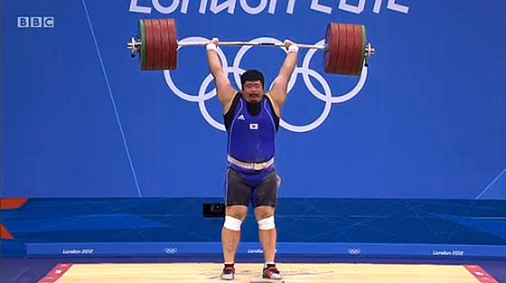 Sang Guen Jeon 246kg Clean Jerk London 2012 Olympics