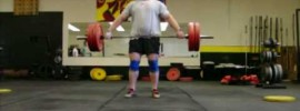 Marshall White 15 Reps 100kg Hang Power Snatch