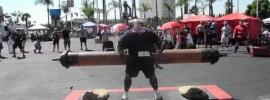 2012 World's Strongest Man Zydrunas Savickas 220kg Log Press World Record