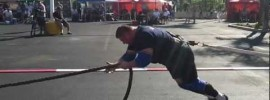 2012 World's Strongest Man Bus Pull