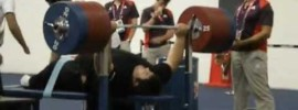 Siamand Rahman 305 kg Bench Press