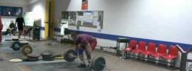 Damian Kusiak 130kg Close Grip Muscle Snatch x4