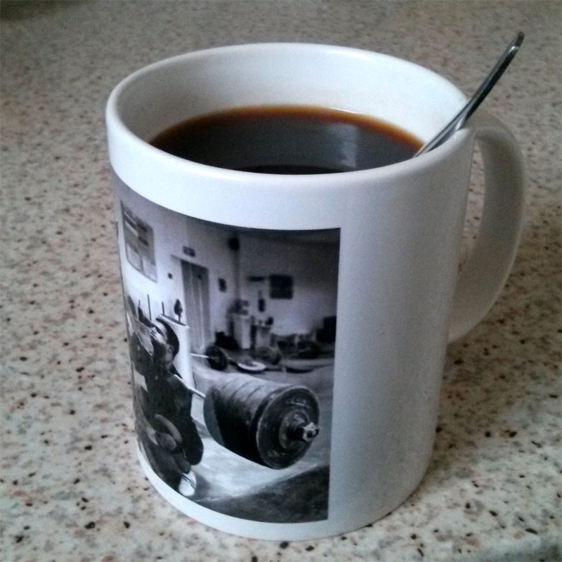 Dmitry Klokov Front Squat Coffee Mug