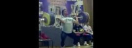 Evgeny Kolomiets 210kg Clean & Jerk