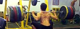 Andrés Mata 210kg Squat x4 at75kg