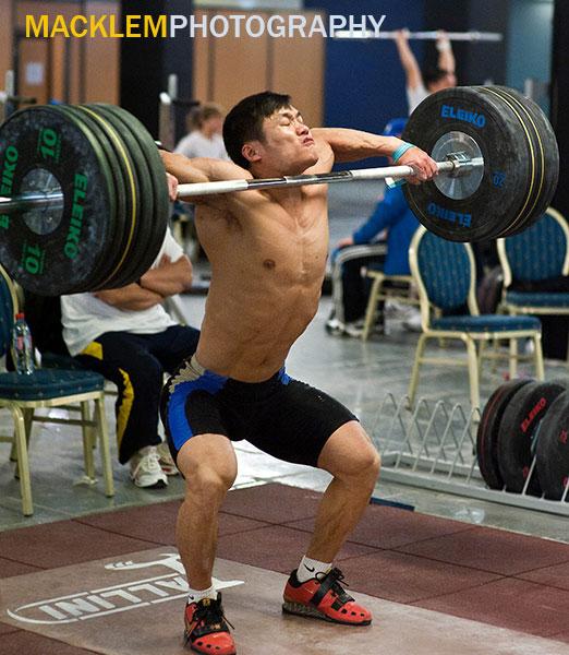 Lu Xiaojun Snatch High Pulls 2011 Paris World Championships Training Hall Rob Macklem