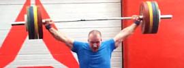 Marcin 180kg Snatch