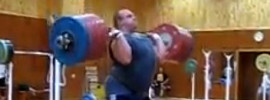Artem Udachyn 270kg Jerk