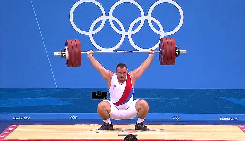 Jirka Orsag 187kg Snatch London 2012 Weightlifting