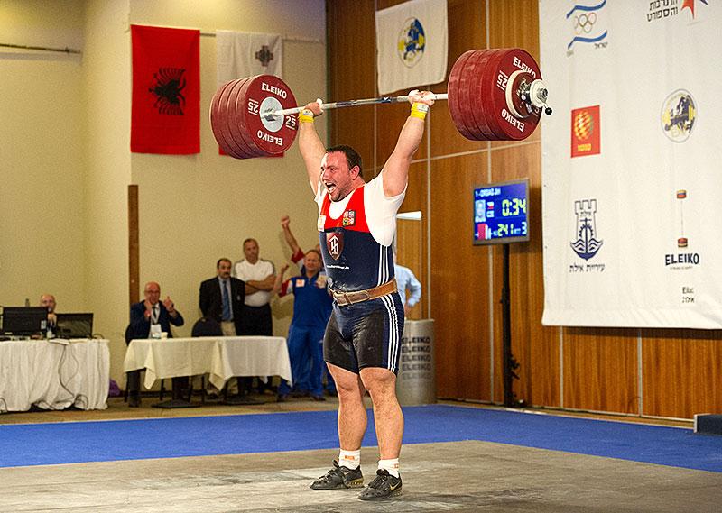 Jirka Orsag 241kg Clean Jerk 2012 U23 European
