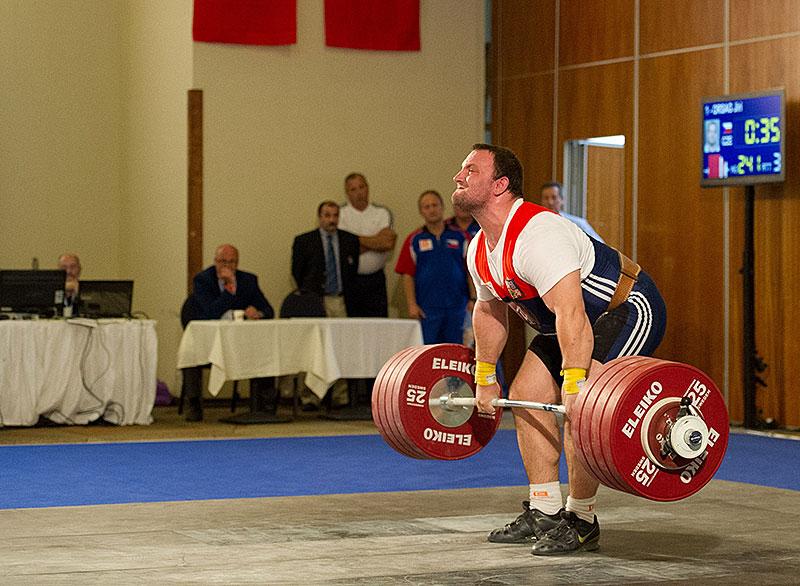 Jirka Orsag 241kg pull Clean Jerk 2012 U23 European