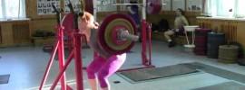 Julia Zaugolova 100kg Squat x20