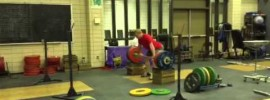 Jared Fleming 210kg Clean from Blocks