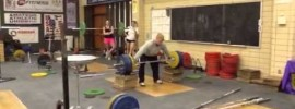 Jared Fleming 173kg Snatch from Blocks