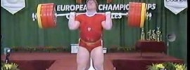 Leonid Taranenko 267.5kg World Record C&J Attempt