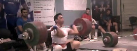 Rasoul Taghian 211kg Clean Jerk World Record