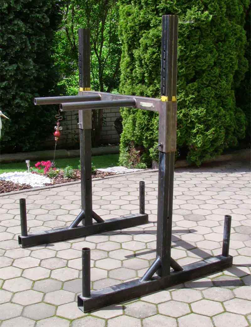 DIY Yoke Squat Stand as Dip Station