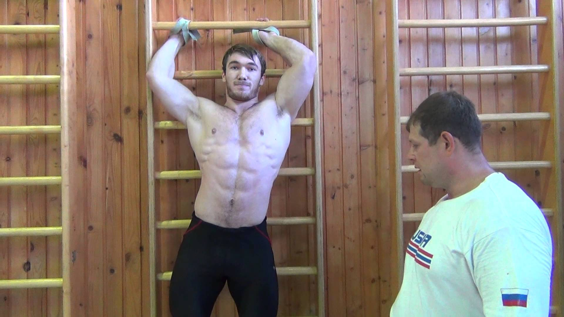 Apti Aukhadov Weighted Hanging Leg Raises With Plate All