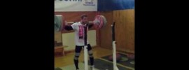 Dmitry Klokov 125kg x3 Behind the Neck Snatch Grip Press