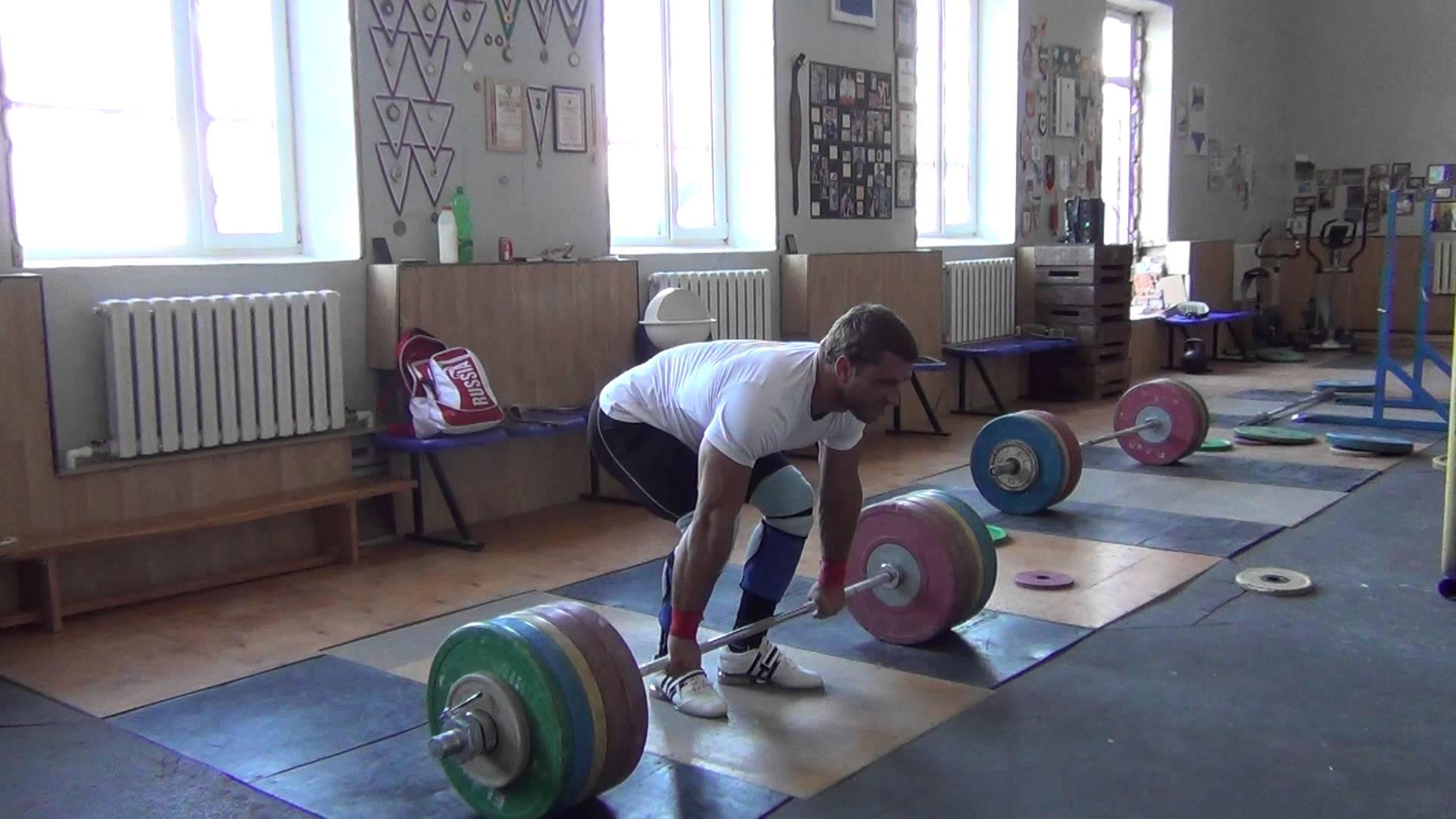 Dmitry Klokov 225kg Clean Russian Weightlifting Team For