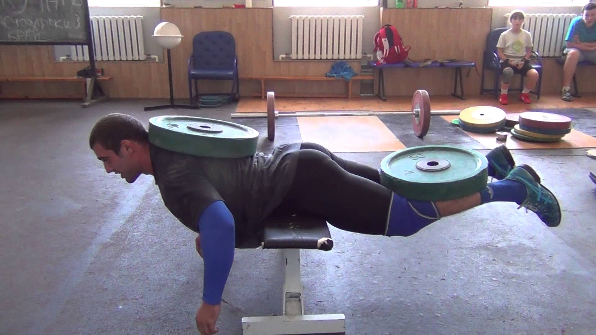 Vladislav Rigert Amp Dmitry Klokov 100kg Weighted Back