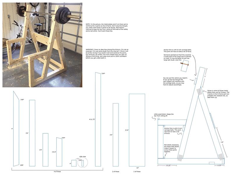DIY Wooden Squat Rack - All Things Gym