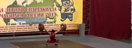 Khetag Khugaev 150kg Snatch at Age 15