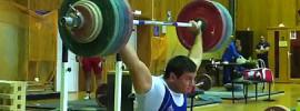 Alexey Lovchev 200kg x2 Snatch off Blocks